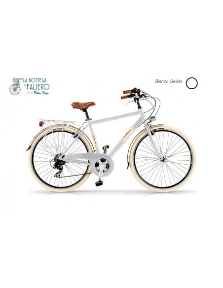 city bike bicicletta da città retrò vintage elegante da uomo bianca
