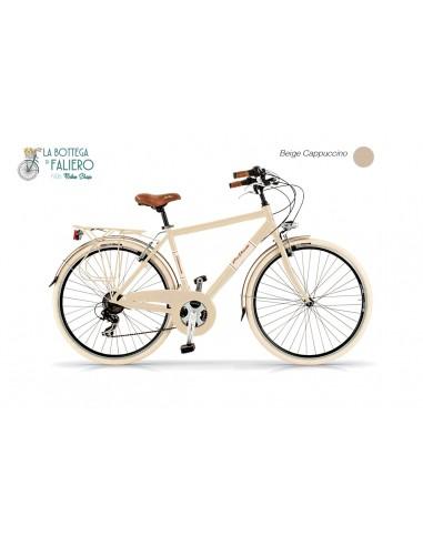 City Bike Elegance Uomo Bici Alluminio Retrò ViaVeneto beige | Faliero Bike
