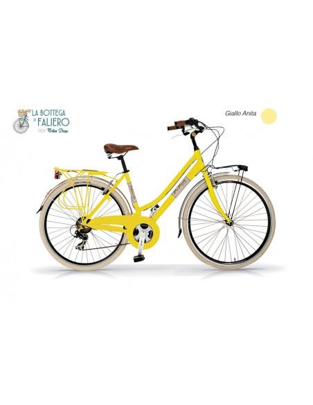 Bicicletta City Bike Donna Gialla Viavento Dolce Vita retrò