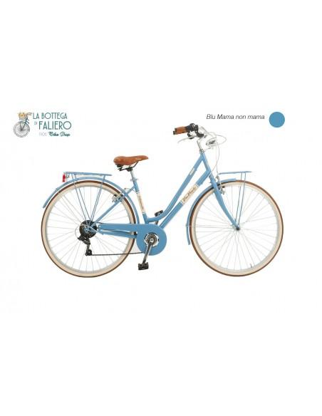 Bici Elegante da Donna City Bike Malagueta Azzurra