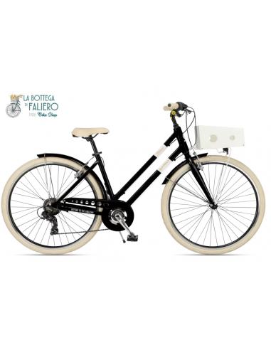 Bicicletta Via Veneto Milano Lady Nero Provocatore 6 velocità