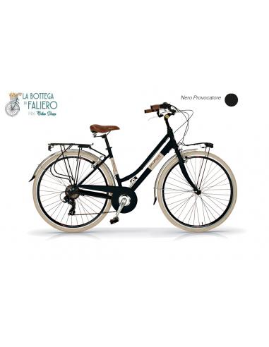 Bicicletta da Città Elegante 6 sped Retrò da Donna Via Veneto Nero Provocatore