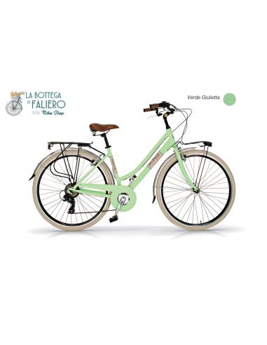 Bicicletta da Città Elegante 6 sped Retrò da Donna Via Veneto Verde Giulietta