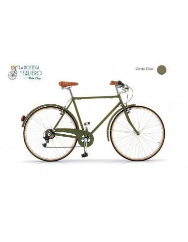 Bici Vintage Uomo Verde Elegante da città retrò